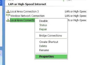 Local area network connections