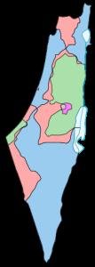 peta wilayah palestina - israel